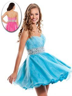 Sweet A-line Sweetheart Knee Length Organza Sleeveless Cocktail Dress-$138.99-ReliableTrustStore.com