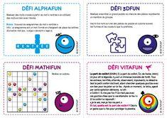 Si vous désirez introduire les intelligences multiples dans votre démarche pédagogique, voici des défis Octofun à proposer aux enfants pour le jour de la rentrée. Vous pouvez également étaler ces a…