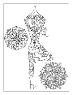 Yoga and meditation coloring book for adults: With Yoga Poses and Mandalas by Alexandru Ciobanu - issuu Mehr Coloring Book Pages, Printable Coloring Pages, Coloring Sheets, Yoga Art, Zentangle Patterns, Zentangles, Mandala Coloring, Free Coloring, Belle Photo