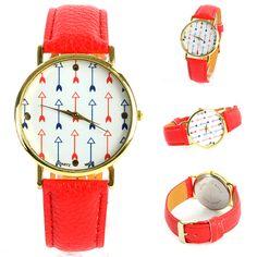 Aliexpress.com : Buy moda para mujer chicas lindas flechas piel dial relojes de pulsera de cuarzo reloj deportivo del envío gratuito from Reliable las mujeres reloj de oro rosa suppliers on  Shenzhen Zehui Technology Co., Ltd.