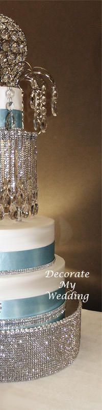 Wedding Decorations - Rhinestone Cake Stand - VICTORIA