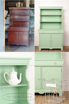 cabinet painted in Penney & Co. Collection of Fusion Mineral Paint in the colour Lily
