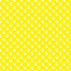 Amarelo e branco animais da cópia da pata padrão de fundo papel de parede