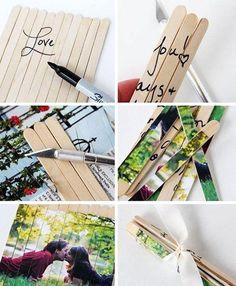 Отличная идея — пазл-открытка с фотографией, картинкой или надписью.