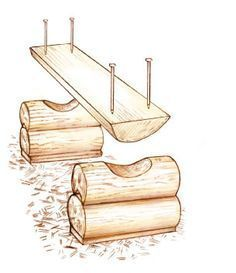 Make Your Own Rustic Log Bench - Cabin Living . Make Your Own Rustic Log Bench – Cabin Living More <!-- Begin Yuzo --><!-- without result -->Related Post I just love this fantastic list of 41 ideas for mo. Log Projects, Weekend Projects, Outdoor Projects, Woodworking Bench, Woodworking Projects, Sauder Woodworking, Woodworking Videos, Fine Woodworking, Rustic Furniture