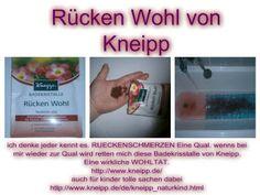Ganz schön natürlich: Rücken Wohl Die Kneipp® Badekristalle Rücken Wohl ...