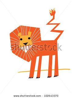 Simple Lion Stock Vector 102643370 : Shutterstock