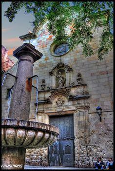 Plaça de Sant Felip Neri , Barri Gótic Barcelona Catalonia