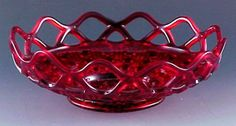Image detail for -... ! Ruby Red Laced Edge Nappy | Depression and Elegant Glass to Share