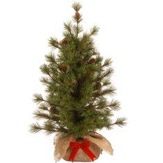 Bristle 3' Green Pine Artificial Christmas Tree