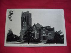 First United Methodist Church, Roanoke Rapids, N.C.  (pre-fire)