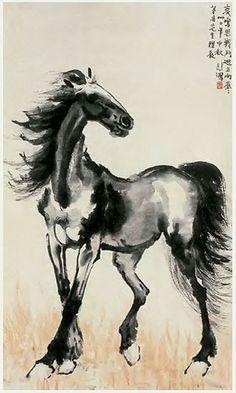 徐悲鸿_骏马2 by China Online Museum - Chinese Art Galleries, via Flickr