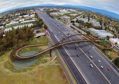 san francisco bay waterfront pedestrian bridge alto | Palo Alto bridge to span fourteen lanes of San Francisco's 101 ...