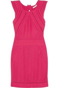 Iro Cut-Out Neon Crepe Mini Dress