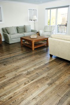Floors one option: This tongue and groove wide plank floor is made from natural grade Ash, our most rustic grade of Ash flooring. Wide plank Ash flooring has pale sapwood and tan to rich brown heartwood. As with all of our wide plank floors, these planks are large and wide.