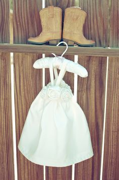 Flower Girl Dress Ideas: Country Wedding  Would be really cute to take with my wedding dress and boots