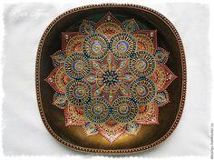 Декоративная посуда ручной работы. Ярмарка Мастеров - ручная работа. Купить Тарелка декоративная  «Медный цветок ». Handmade.