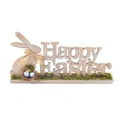 Wood Easter Bunny Decoration-Happy Easter