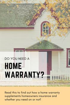 Do You Need a Home Warranty? A home warranty isn't the same as homeowner's insurance. Read this to find out the differences and find out whether you need a home warranty! Living Within Your Means, Energy Saving Tips, Financial Peace, Home Warranty, Extreme Couponing, Do You Need, Home Ownership, Personal Finance, Gazebo