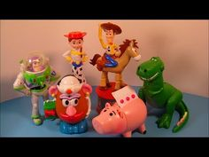 1999 DISNEY'S TOY STORY 2 SET OF 6 CANDY DISPENSERS MCDONALD'S HAPPY MEAL KID'S TOY'S VIDEO REVIEW - YouTube