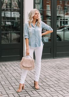 2122d1b2612 The perfect chambray button up shirt will be your new favorite staple  piece. This long