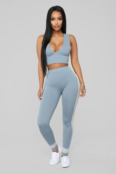 Women's workout clothes, women's activewear, and streetwear for women at an affordable price? Fashion Nova has it all. Check out our workout clothes for women and other women's streetwear in all colors, sizes, and styles. Sporty Outfits, Cute Outfits, Fashion Outfits, Blue Fashion, Chest Workout Women, Crop Top And Leggings, Printed Leggings, Trends, Ab Workout At Home