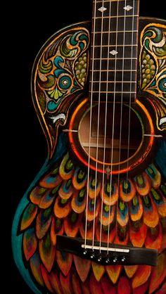Handpainted Lichty Guitar, artwork by Clark Hipolito