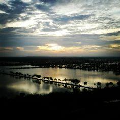 Sunrise in Kenjeran beach, Surabaya city