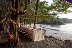 A Beach Wedding Dinner at Tulemar in Costa Rica | The Destination ...