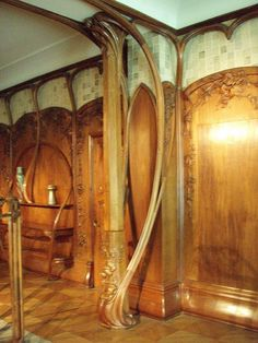 Art Nouveau design and decoration Design Art Nouveau, Art Nouveau Interior, Art Nouveau Furniture, Room Interior, Interior Ideas, Architecture Art Nouveau, Art And Architecture, Architecture Details, Beautiful Architecture
