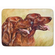 East Urban Home Irish Setter Memory Foam Bath Rug