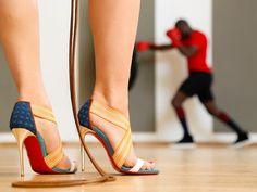 Fantasy Fashion Design: Haz una visita al gimnasio con unos zapatos de Christian Louboutin