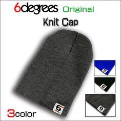 6DEGREES ORIGINAL KNIT CAP CHARCOAL GRAY シックスディグリーズ オリジナル ニット キャップ チャコールグレー 全3色