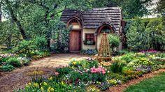 orange - yellow cottage house - Google Search