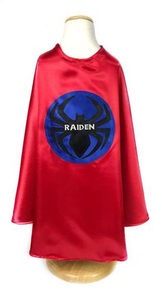 Red and Blue Spider Superhero Cape & Mask / Kids Superhero Costume / Toddler Birthday Party Outfit Super Hero Costumes, Cool Costumes, Halloween Costumes, Woman Costumes, Superhero Costumes Kids, Superhero Capes, You Are My Superhero, Im Sorry Gifts, Superhero Symbols