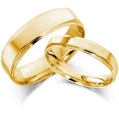 Aros De Matrimonio De Oro 18 K Calderón