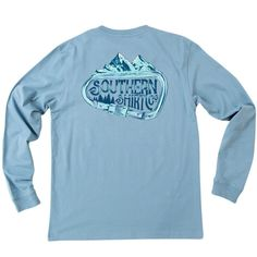 Carabiner Long Sleeve Tee Shirt in Provincial Blue by The Southern Shirt Co. #$0-to-$50 #Blue #cf-size-l