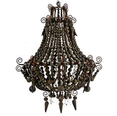 Werner and Philippa Du Toit, S. African. Clay bead chandelier