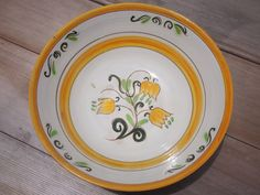 Stangl Pottery 10 inch Bowl Stangl Tulip Pattern by RoselandHaven, $16.00