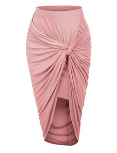 Wrap yourself in this super sexy asymmetrical banded waist wrap cut out hi low maxi skirt. Wear this super comfortable skirt to the beach as a swimsuit cover up and go for drinks at night with some se