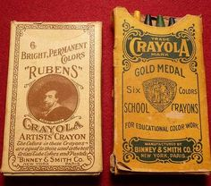 Box of six crayola crayon box. Around 1904 or sometime after for the boxing of c . Box of six crayola crayon box. Around 1904 or sometime after for the boxing of crayons. Crayola Box, Crayola Colored Pencils, Vintage Type, Vintage Art, Vintage Candy, Vintage Photos, Vintage School, Vintage Typography, Retro Toys