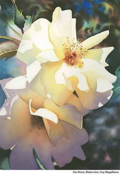 Beautiful light Floral Watercolor Paintings by Guy Magallanes Watercolor And Ink, Watercolour Painting, Watercolor Flowers, Painting & Drawing, Watercolors, Watercolor Portraits, Watercolor Landscape, Academic Drawing, Academic Art