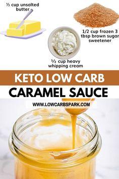 Atkins Recipes, Low Carb Recipes, Diabetic Living, Healthy Living, How To Make Caramel, Keto Holiday, Usda Food, Low Carb Sauces, Keto Brownies