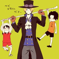It's Sabo onii-chan (big brother Sabo) - Ace, Luffy, Sabo, ASL Brothers, One Piece (@kpopfantasy translations)