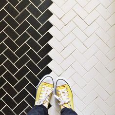 Subway Tiles and Yel