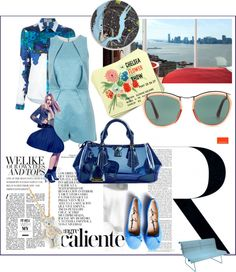 """""""Shades of Blue"""" by belldraw ❤ liked on Polyvore"""