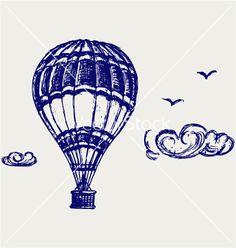 Balloon sketch vector