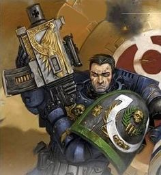 Captain Uriel Ventris of the Ultramarines 4th Company.