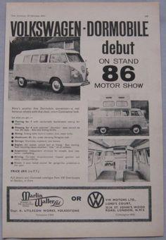 1961 VW Dormobile Camper Original