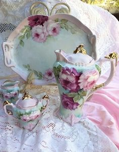 Rose painted art of tea...or chocolate...